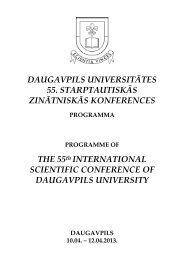 Programme - DU conference