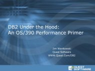 DB2 Under the Hood - Quest Software