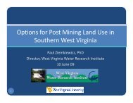 Options for Post Mining Land Use in Options for Post Mining Land ...