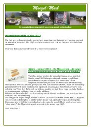 Moezelnieuwsbrief 15 juni 2013 Nieuw – zomer ... - Moezel Reizen