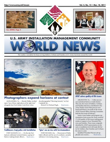 Photographers expand horizons at contest - imcom - U.S. Army