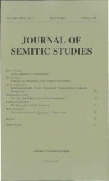 Front Matter (PDF) - Journal of Semitic Studies