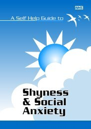 Shyness & Social Anxiety - NHS Manchester