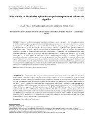 Seletividade de herbicidas aplicados em pré-emergência na cultura ...