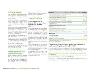 3 • épargne salariale 4 • nombre total d'actions pouvant ... - Bouygues