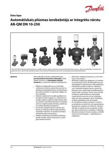 AB-QM, DN 10-250 - Danfoss apkures portāls