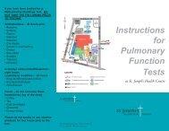 Pulmonary Function Test Intstructions - St. Joseph's Health Centre ...