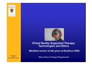 Virtual Reality Supported Therapy: Technologies and Ethics - HCI