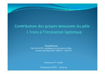 Malik Driad, Contribution des innovations technologiques à l ... - afitl