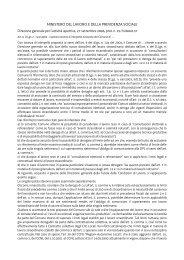 ministero del lavoro e della previdenza sociale - Sistema delle ...