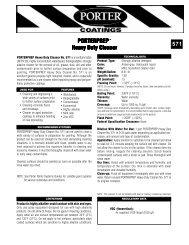 ds571 PORTERPREP Heavy Duty Cleaner - PPG Industries