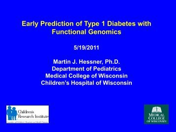 Early Prediction of Type 1 Diabetes with Functional Genomics
