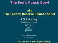 Federal Reserve Balance Sheet - PCBE