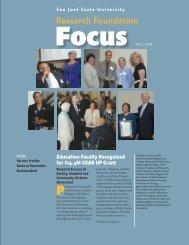 San José State University Research Foundation Focus