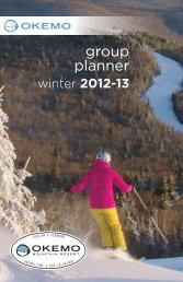 group planner - Okemo Mountain