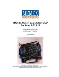 Fanuc 15A Manual for Add-on Memory Board