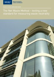 The Net Waste Method – testing a new standard for ... - Wrap