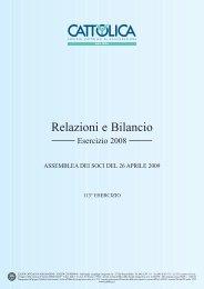 Bilancio Cattolica Assicurazioni al 31 dicembre 2008