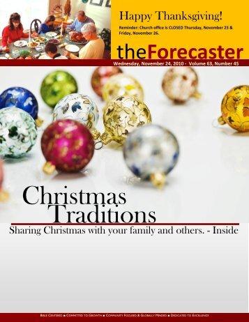 Cover Story - Christmas Traditions - Fairmount Christian Church
