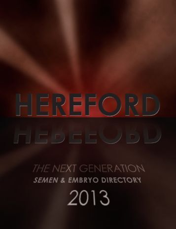 Herefords, the Next Generation - Canadian Hereford Association