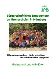 Bürgerschaftliches Engagement an Grundschulen in Nürnberg - ISKA