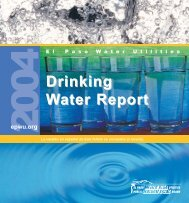 2004 Drinking Water Report - El Paso Water Utilities