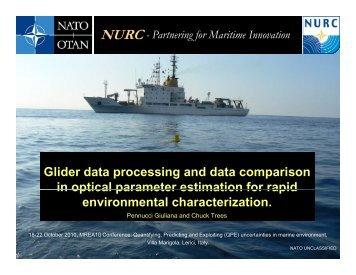 Glider data processing and data comparison in optical ... - Nato