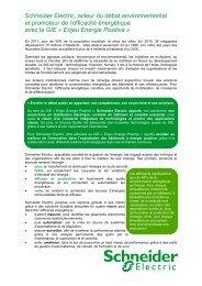 Schneider Electric - Enjeu Energie Positive
