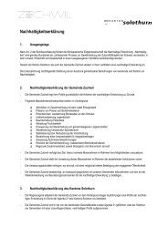 Zuchwil - Lokalen Agenda 21 Kanton Solothurn