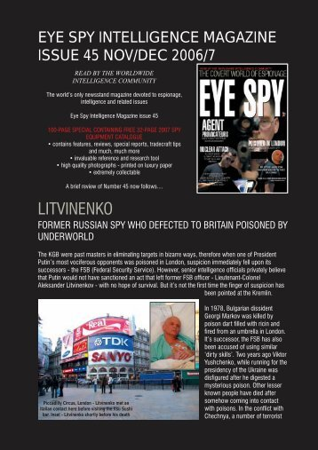 LITVINENKO - Eye Spy Intelligence Magazine