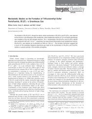 Mechanistic Studies on the Formation of Trifluoromethyl Sulfur ...