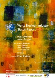 World Nuclear Industry Status Report 2013 - Swiss Energy Council