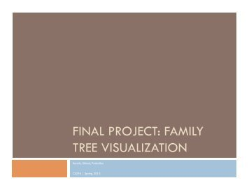 FINAL PROJECT: FAMILY TREE VISUALIZATION