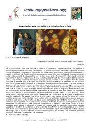 Considerazioni sulle cure palliative e sulla ... - Agopuntura.org