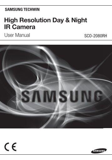 High Resolution Day & Night IR Camera - Samsung CCTV