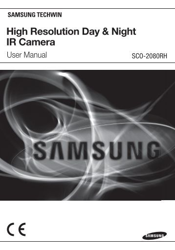 High Resolution Day & Night IR Camera - Samsung CCTV