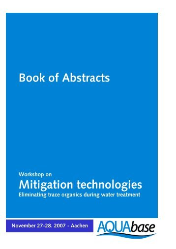 Abstracts of Poster Presentations - AQUABASE - RWTH Aachen ...