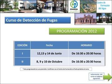Curso de Detección de Fugas PROGRAMACIÓN 2012 - Emasesa