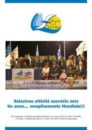 Liberi nel Vento Fermo - Relazione attivita 2012 - CSV Marche