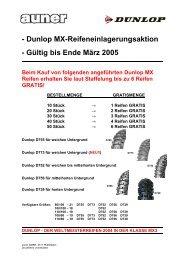 - Dunlop MX-Reifeneinlagerungsaktion - Gültig bis Ende ... - Auner