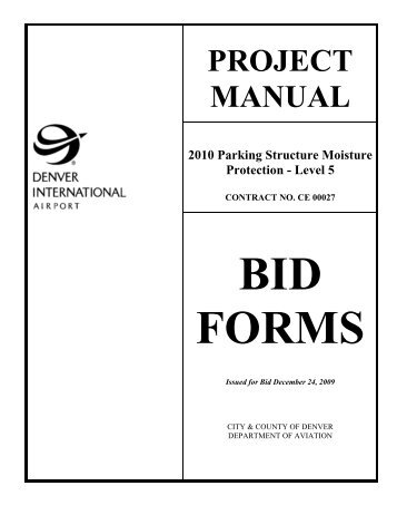 bid forms - DIA Business Center - Denver International Airport