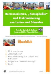 Einstellungen zu Lesben und Schwulen - Hirschfeld-Eddy-Stiftung