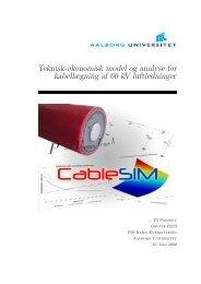 Teknisk-økonomisk model og analyse for kabellægning af 60 kV ...