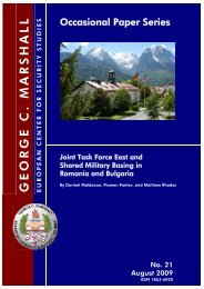 Joint Task Force East and Shared Military Basing in Romania and ...