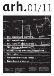 EAL Teataja 1-2011 - Eesti Arhitektide Liit