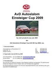 AvD Autoslalom Einsteiger Cup 2009