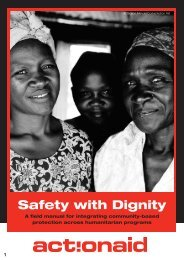 Action Aid: Safety with dignity - Danish Refugee Council