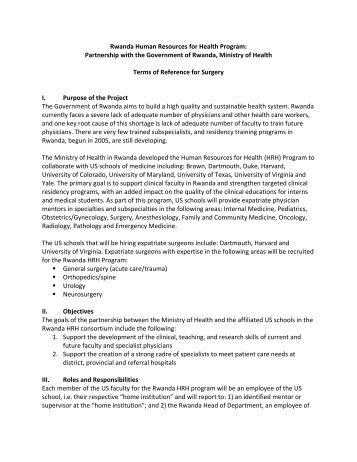 Rwanda Human Resources for Health Program: - Massachusetts ...