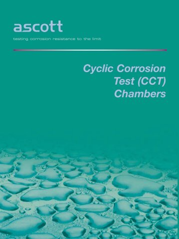 Cyclic Corrosion Test (CCT) Chambers - Labomat