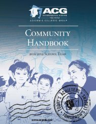 ACG Community Handbook - The Academic Colleges Group